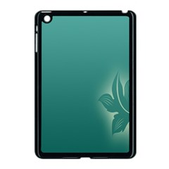 Leaf Green Blue Branch  Texture Thread Apple Ipad Mini Case (black) by Alisyart
