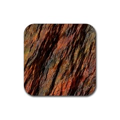 Texture Stone Rock Earth Rubber Coaster (square)  by Amaryn4rt