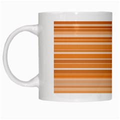Line Brown White Mugs