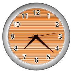 Line Brown Wall Clocks (silver)  by Alisyart