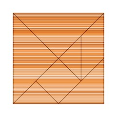 Line Brown Acrylic Tangram Puzzle (6  X 6 ) by Alisyart