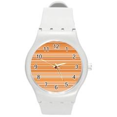 Line Brown Round Plastic Sport Watch (m) by Alisyart