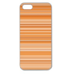 Line Brown Apple Seamless Iphone 5 Case (clear) by Alisyart