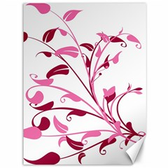 Leaf Pink Floral Canvas 36  X 48   by Alisyart