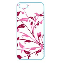 Leaf Pink Floral Apple Seamless Iphone 5 Case (color) by Alisyart