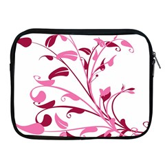 Leaf Pink Floral Apple Ipad 2/3/4 Zipper Cases by Alisyart