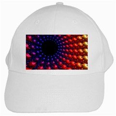 Fractal Mathematics Abstract White Cap by Amaryn4rt