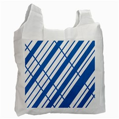 Line Blue Chevron Recycle Bag (one Side) by Alisyart