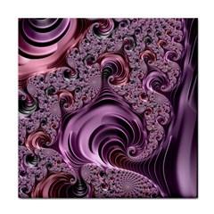 Purple Abstract Art Fractal Art Fractal Face Towel by Amaryn4rt