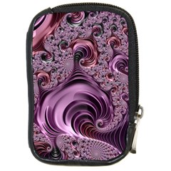 Purple Abstract Art Fractal Art Fractal Compact Camera Cases by Amaryn4rt