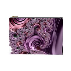 Purple Abstract Art Fractal Art Fractal Cosmetic Bag (large)  by Amaryn4rt