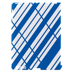 Line Blue Chevron Apple Ipad 3/4 Hardshell Case (compatible With Smart Cover) by Alisyart