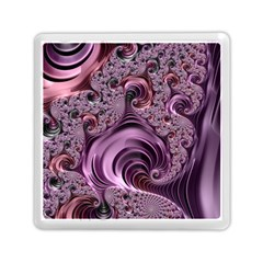 Purple Abstract Art Fractal Art Fractal Memory Card Reader (square)  by Amaryn4rt