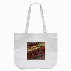 Line Dancing Gpld Net Tote Bag (white)