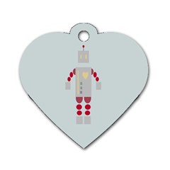 Machine Engine Robot Dog Tag Heart (two Sides) by Alisyart