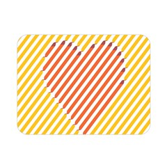 Little Valentine Pink Yellow Double Sided Flano Blanket (mini)  by Alisyart
