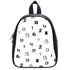 Number Black School Bags (small)  by Alisyart