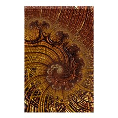 Copper Caramel Swirls Abstract Art Shower Curtain 48  X 72  (small)