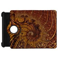 Copper Caramel Swirls Abstract Art Kindle Fire Hd 7