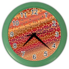 Line Dancing Gold Purple Color Wall Clocks by Alisyart