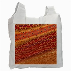 Line Dancing Gold Purple Recycle Bag (one Side) by Alisyart