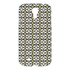 Flower Floral Chevrpn Wave Sunflower Rose Grey Yellow Samsung Galaxy S4 I9500/i9505 Hardshell Case by Alisyart