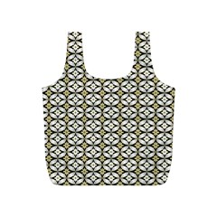Flower Floral Chevrpn Wave Sunflower Rose Grey Yellow Full Print Recycle Bags (s)  by Alisyart