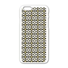 Flower Floral Chevrpn Wave Sunflower Rose Grey Yellow Apple Iphone 6/6s White Enamel Case by Alisyart