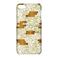 Flower Floral Leaf Rose Pink White Green Gold Apple Ipod Touch 5 Hardshell Case With Stand by Alisyart