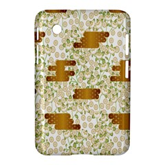 Flower Floral Leaf Rose Pink White Green Gold Samsung Galaxy Tab 2 (7 ) P3100 Hardshell Case  by Alisyart