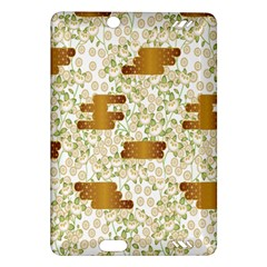 Flower Floral Leaf Rose Pink White Green Gold Amazon Kindle Fire Hd (2013) Hardshell Case by Alisyart