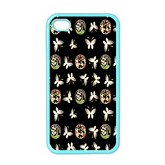 Butterfly Floral Flower Green White Apple Iphone 4 Case (color) by Alisyart
