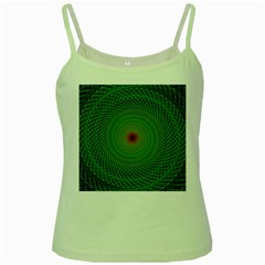 Green Fractal Simple Wire String Green Spaghetti Tank