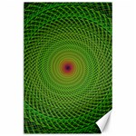 Green Fractal Simple Wire String Canvas 24  x 36  36 x24 Canvas - 1