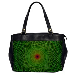 Green Fractal Simple Wire String Office Handbags by Amaryn4rt