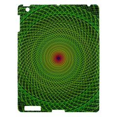Green Fractal Simple Wire String Apple Ipad 3/4 Hardshell Case