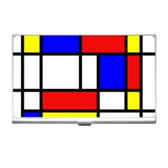 Mondrian Red Blue Yellow Business Card Holders by Amaryn4rt