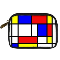 Mondrian Red Blue Yellow Digital Camera Cases by Amaryn4rt
