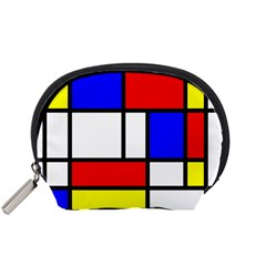 Mondrian Red Blue Yellow Accessory Pouches (small)  by Amaryn4rt