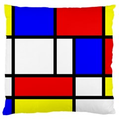 Mondrian Red Blue Yellow Large Flano Cushion Case (two Sides) by Amaryn4rt