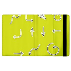 Arrow Line Sign Circle Flat Curve Apple Ipad 3/4 Flip Case by Amaryn4rt