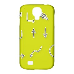 Arrow Line Sign Circle Flat Curve Samsung Galaxy S4 Classic Hardshell Case (pc+silicone) by Amaryn4rt