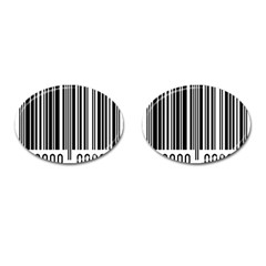 Code Data Digital Register Cufflinks (oval) by Amaryn4rt