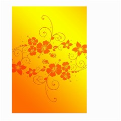 Flowers Floral Design Flora Yellow Large Garden Flag (two Sides) by Amaryn4rt