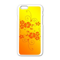 Flowers Floral Design Flora Yellow Apple Iphone 6/6s White Enamel Case by Amaryn4rt