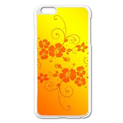 Flowers Floral Design Flora Yellow Apple Iphone 6 Plus/6s Plus Enamel White Case by Amaryn4rt