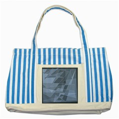 Lines Shapes Pattern Web Creative Striped Blue Tote Bag by Amaryn4rt