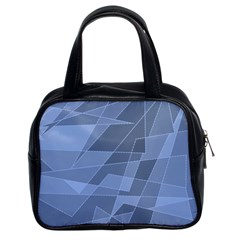 Lines Shapes Pattern Web Creative Classic Handbags (2 Sides) by Amaryn4rt