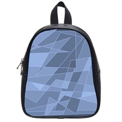 Lines Shapes Pattern Web Creative School Bags (small)