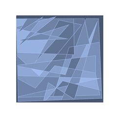 Lines Shapes Pattern Web Creative Small Satin Scarf (square)